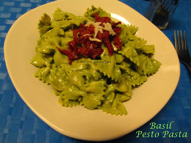 Basil Almond Pesto Pasta | Step wise pictures