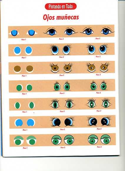 PORCELANA FRIA Trynys design: Como Pintar ojos de muñecas/os ...