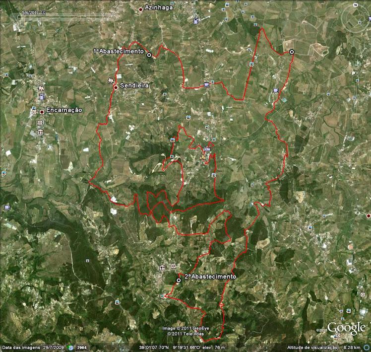Percurso de 50kms