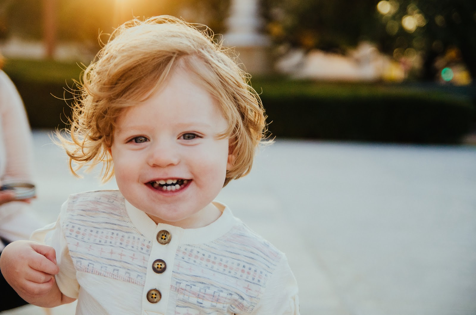 smiling backlit toddler, indianapolis family photographer