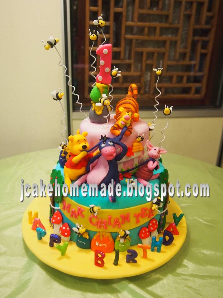 winne the pooh birthday cake
