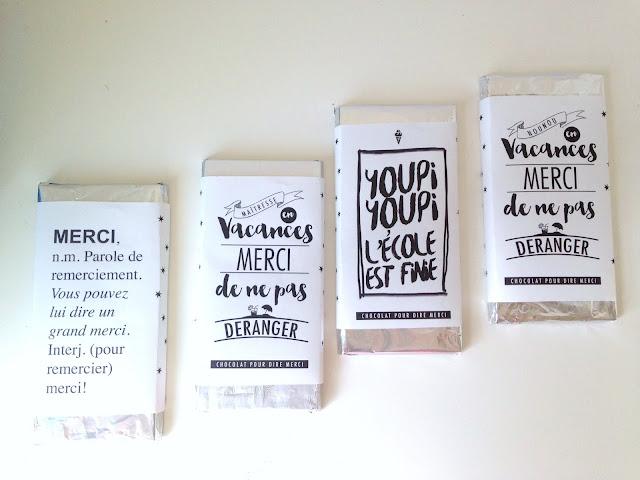 maitresse ecole cadeau diy chocolat blog