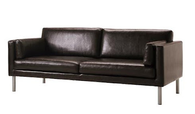 couch with metal peg legs