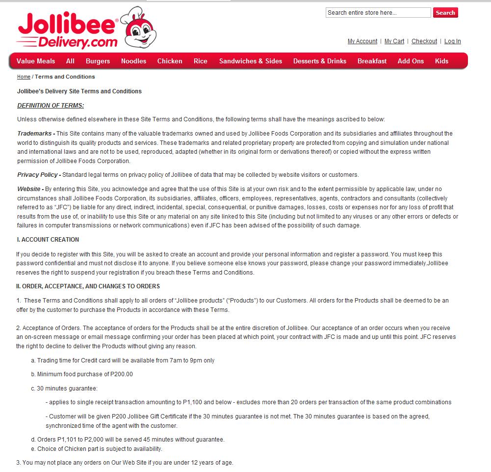jollibee online delivery
