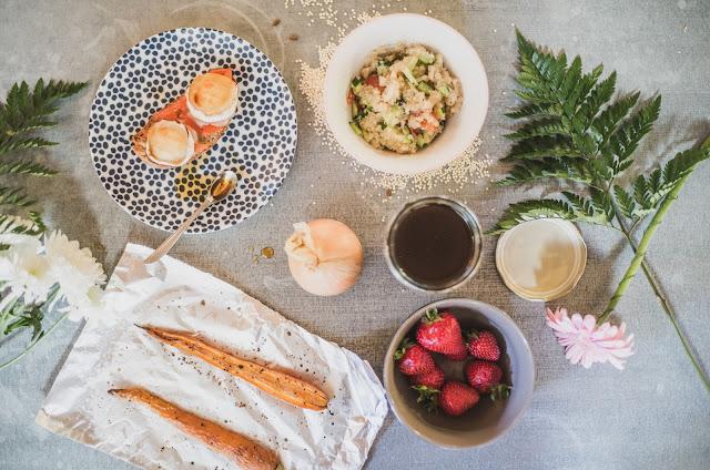 Brunch > Bruschetta / Quinoa aux légumes / Carotte rôtie au paprika