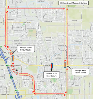 Calvine Road to Be Closed For Track Repairs; Two e-Tran Routes Affected