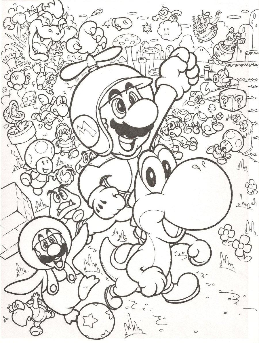Super Mario Bros Malvorlagen Zum Ausdrucken My Blog