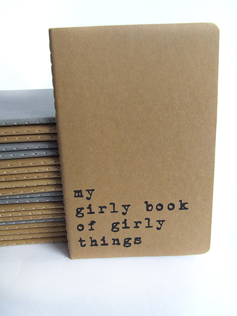 my girly book of girly things - Screen printed Moleskine notebook by Alfamarama
