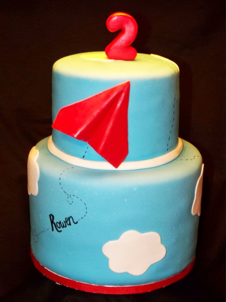 Cakes by Kristen H Paper Airplane theme cake