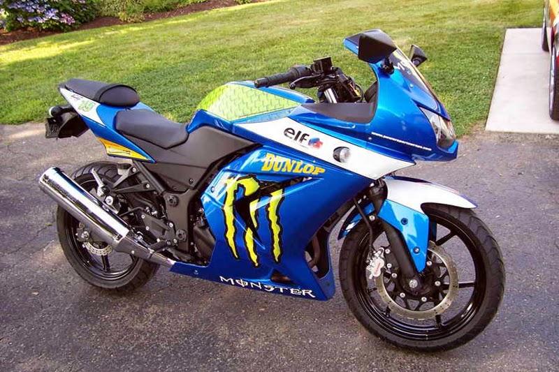 modifikasi motor ninja 4 tak keren abis  tahun ini