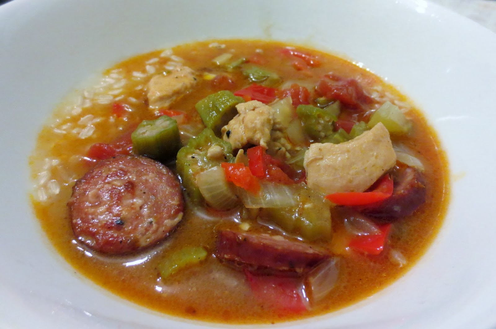 ... The Diary of a Food Enthusiast: Heartwarming Chicken and Sausage Gumbo