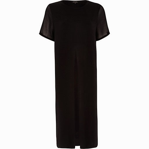 river island black long dress