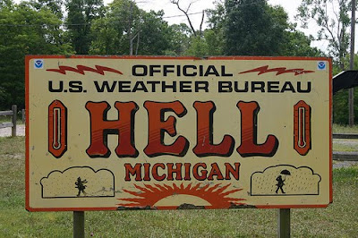Hell Michigan sign