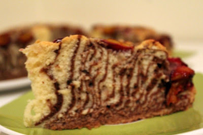 Ciasto zebra ze śliwkami
