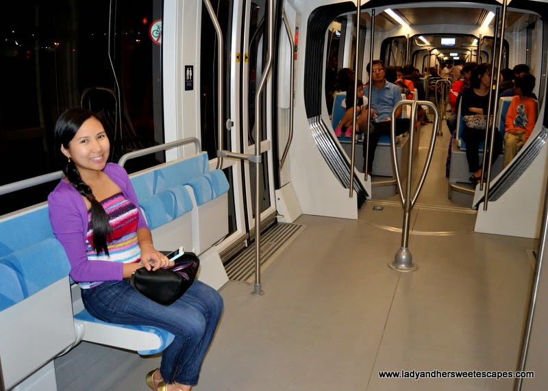 Dubai Tram cabin for silver NOL card holders