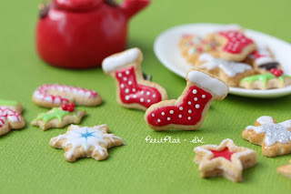 Christmas Cookie Earrings Socks / Boucles d'Oreilles Noël Biscuit Chaussettes