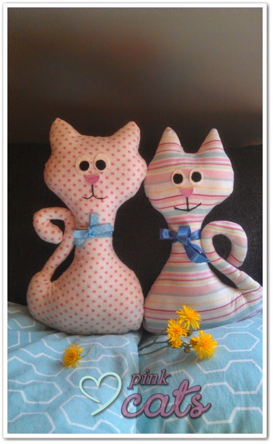 kot, koty, uszyte, kot z materiału, maskotki,