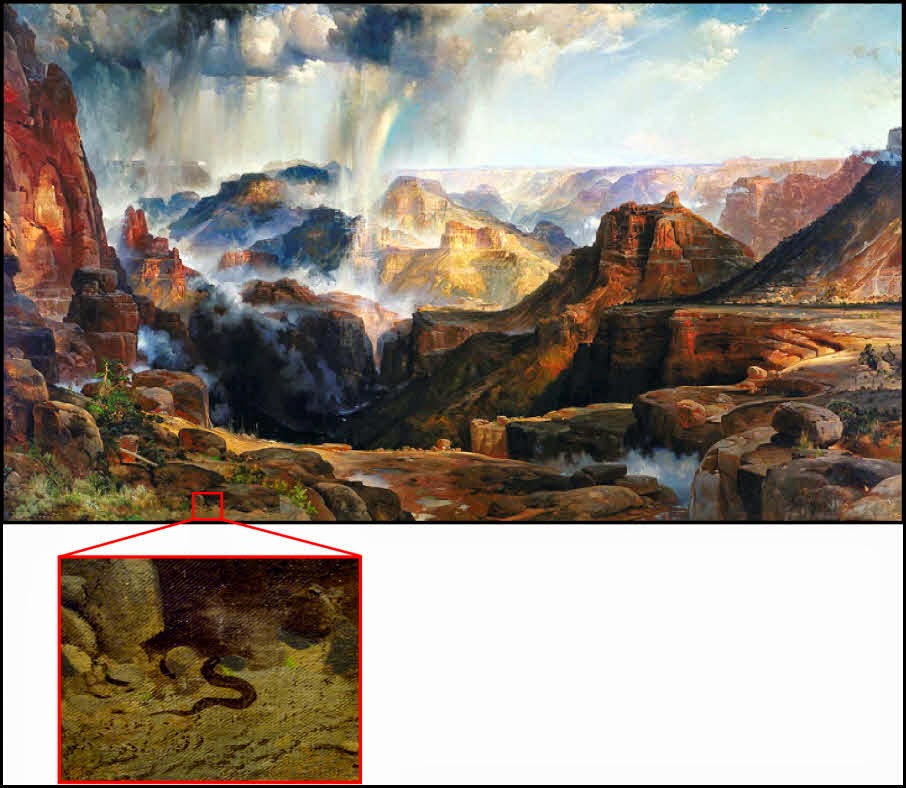 Thomas Moran,snake,Grand Canyon