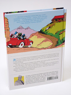 back side of Christmas on Bear Mountain showing Donald Duck and nephews in a red car