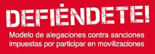 DEFIÉNDETE! Modelo de alegaciones contra sanciones impuestas por participar en movilizaciones