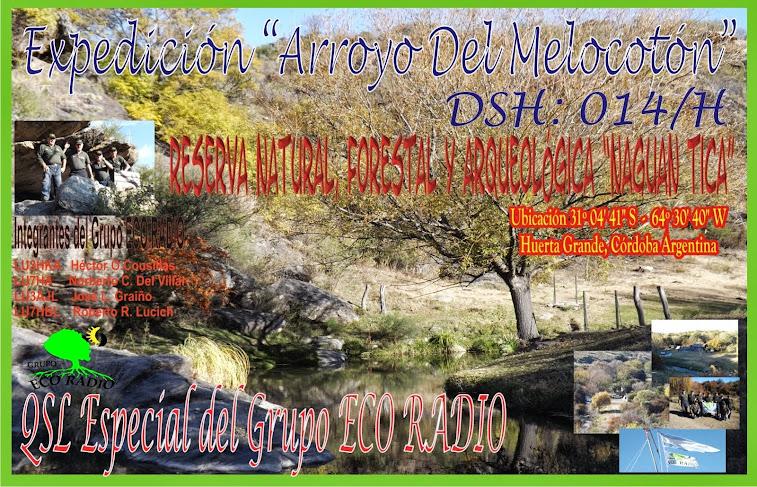 QSL Expedición  Arroyo del Melocotón