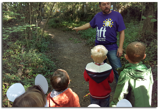 Obviously we weren't left to fend for ourselves in the woods - we had a HFT guide with us the whole time and Paul was fantastic!  He was great with the kids, controlled them better than any one of us adults, got them joining in, calling out and at one point holding Max's hand to the next event!