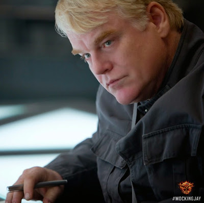 Philip Seymour Hoffman in The Hunger Games Mockingjay Part 1