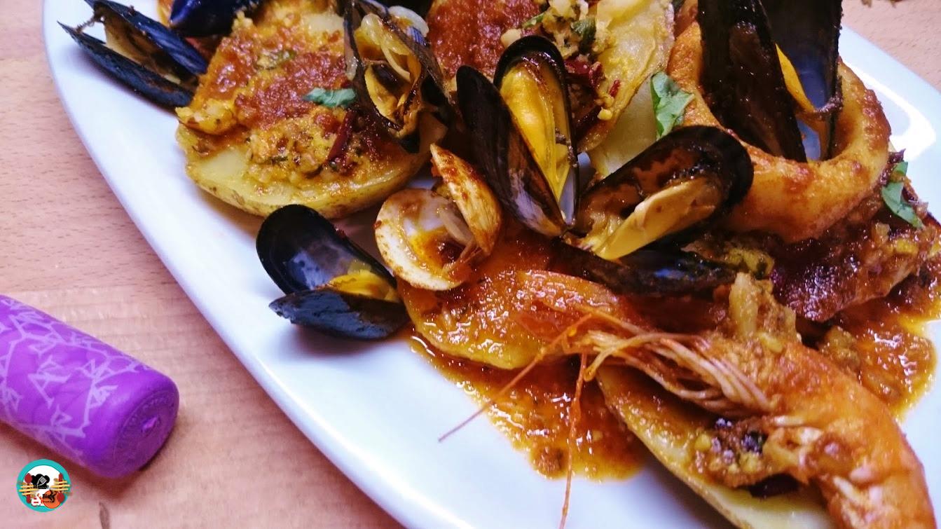 Zarzuela de mariscos con mojo huele bien for Cocinar zarzuela