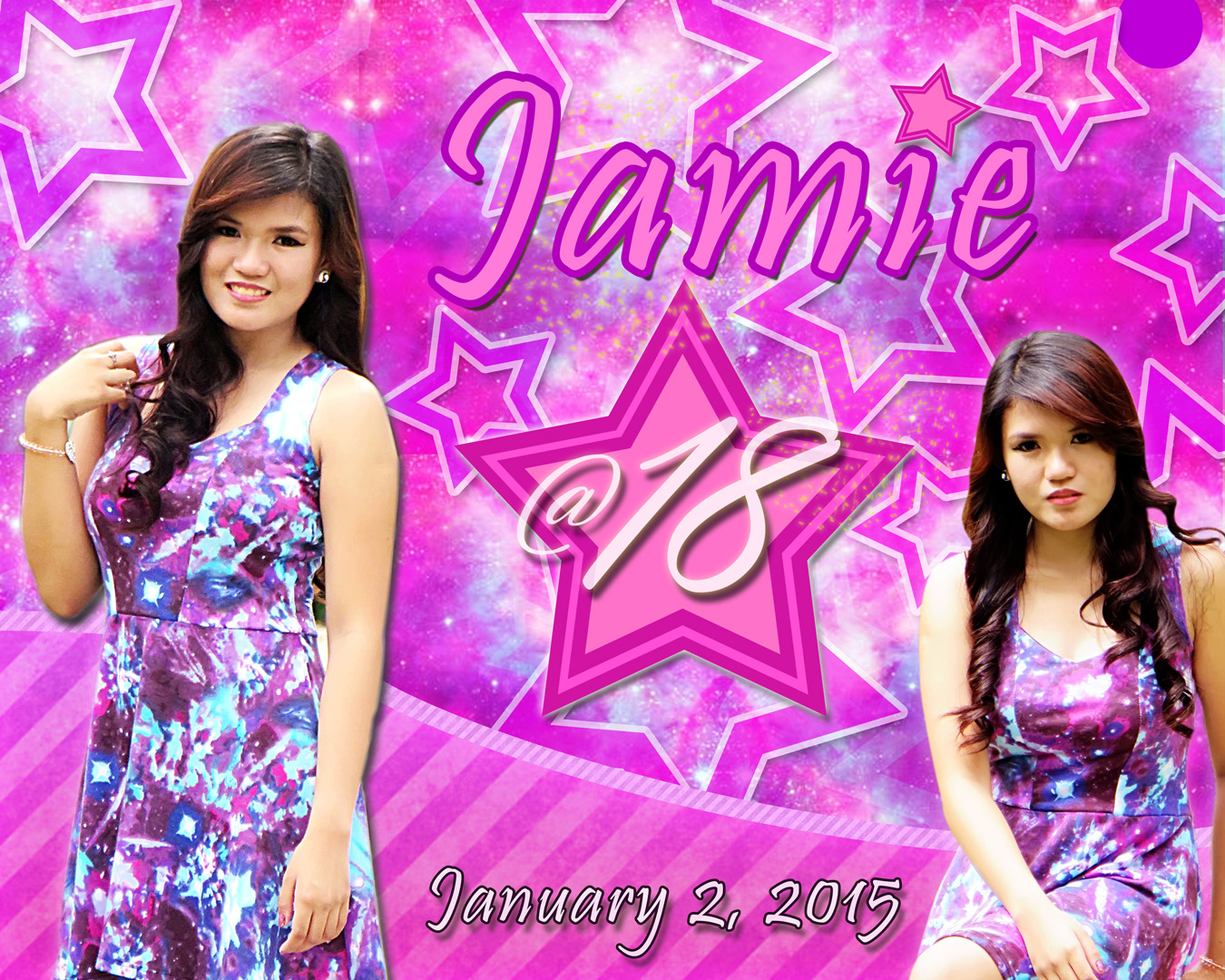 Jamie's 18th Birthday | Tarpaulin,Invatation etc.. Layout