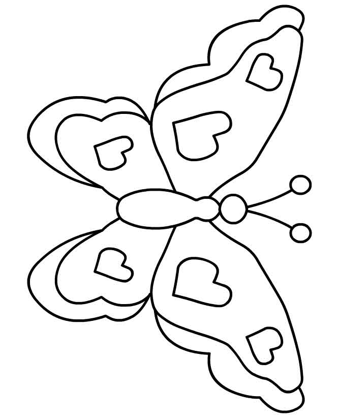Mariposas para colorear dibujos infantiles imagenes - Plantillas de mariposas para pintar ...