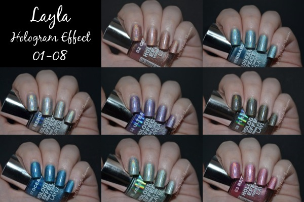 Review Swatches Layla Hologram Effect Collection 01 08