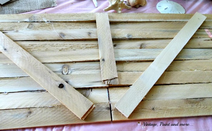 Vintage, Paint and more... wood slats for art canvas, using wood slats to make wall art