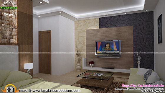 TV unit design of bedroom
