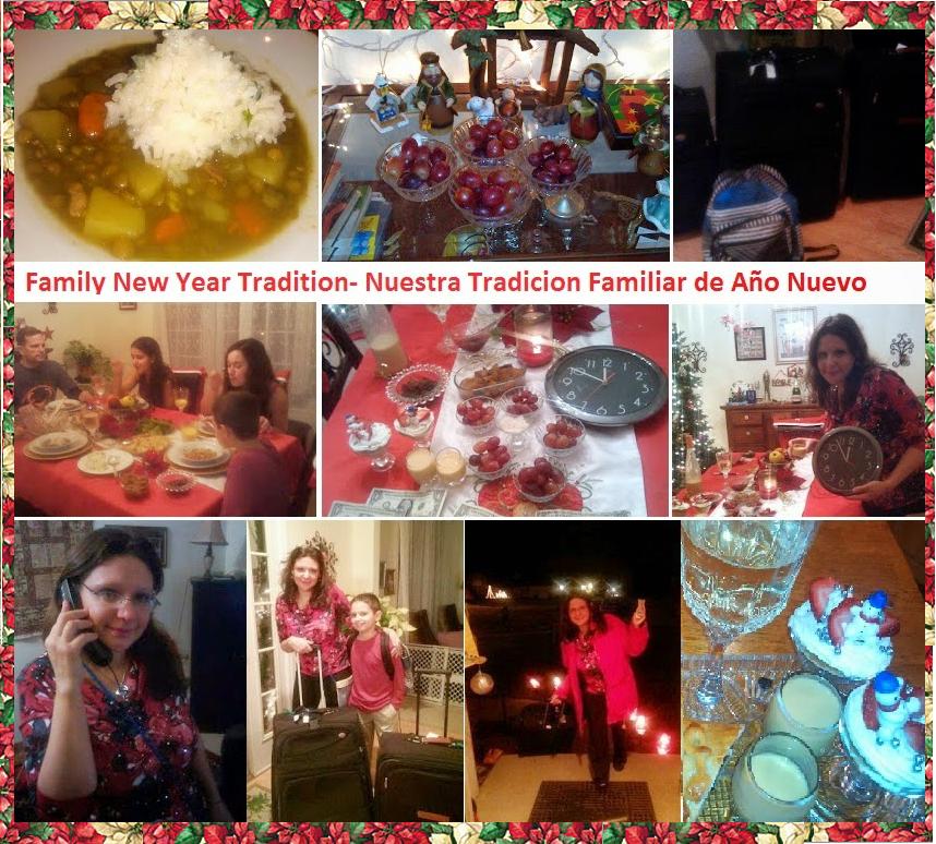Our Family New Year Tradition- Nuestra Tradicion Familiar de Año Nuevo