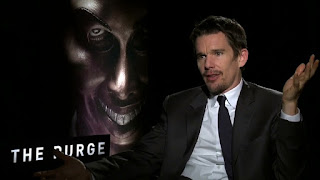 Ethan Hawke pendant la promotion de American Nightmare, de James DeMonaco (2013)