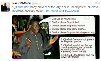 Nasir El rufai Says Uncle Jonathan is lazy, docile, hopeless, useless