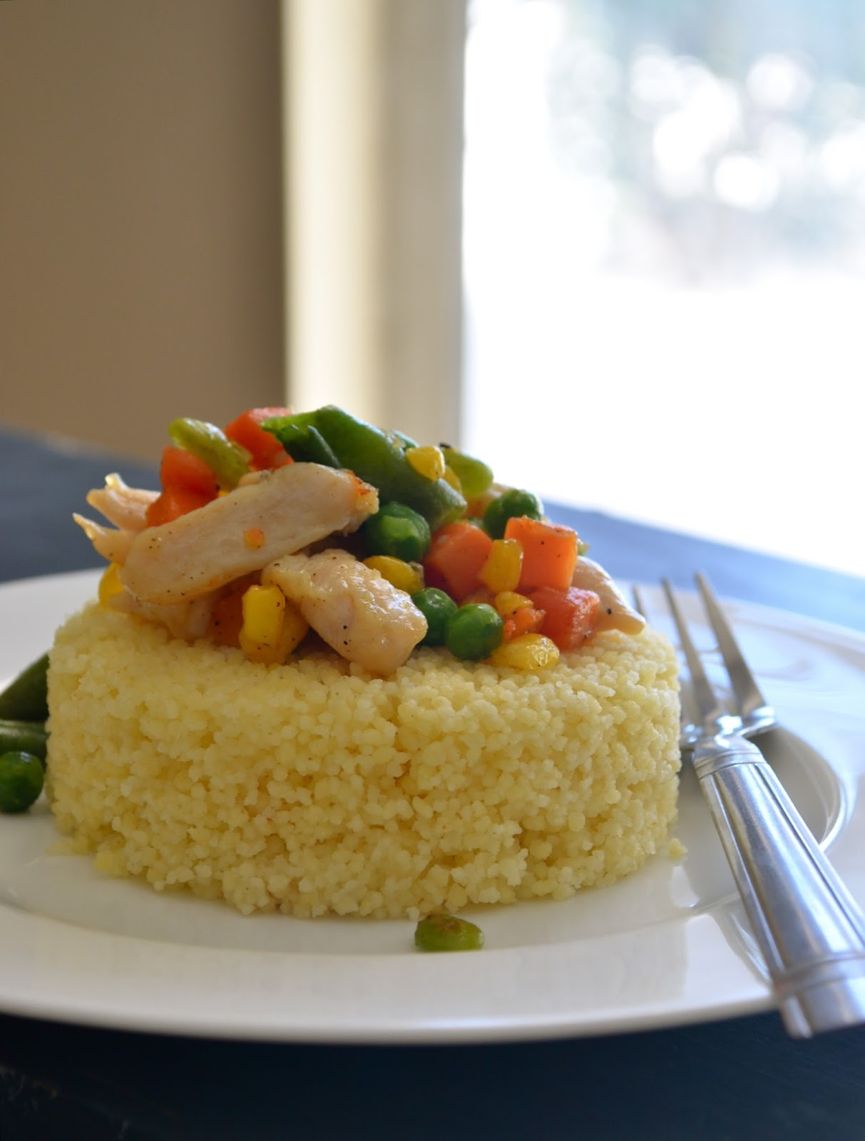 Dishing With Divya: Couscous with Chicken and Vegetables