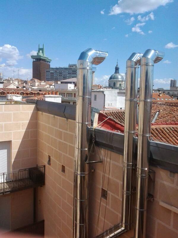 Tubos de chimenea instalar tubos y conductos chimeneas - Extraccion de humos y ventilacion de cocinas ...