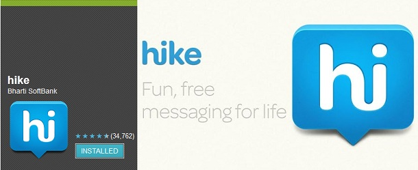 Hike on Android