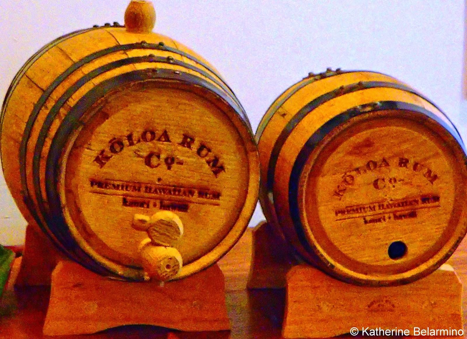 Koloa Rum Company Casks Kauai Hawaii