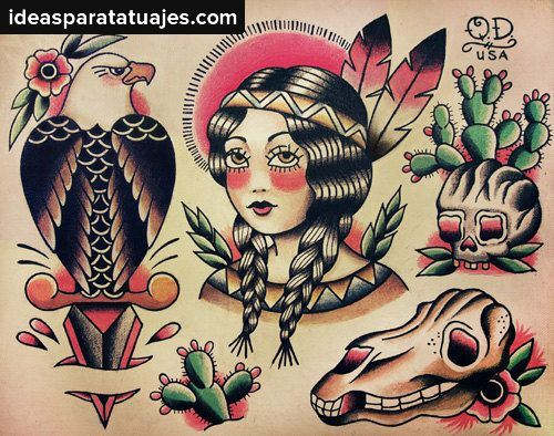 Disenos Y Estilos De Tatuajes Tatuajes Tradicionales