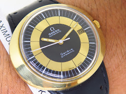 OMEGA GENEVE DYNAMIC BLACK GOLD DIAL GOLD TOP - AUTOMATIC CAL. 565