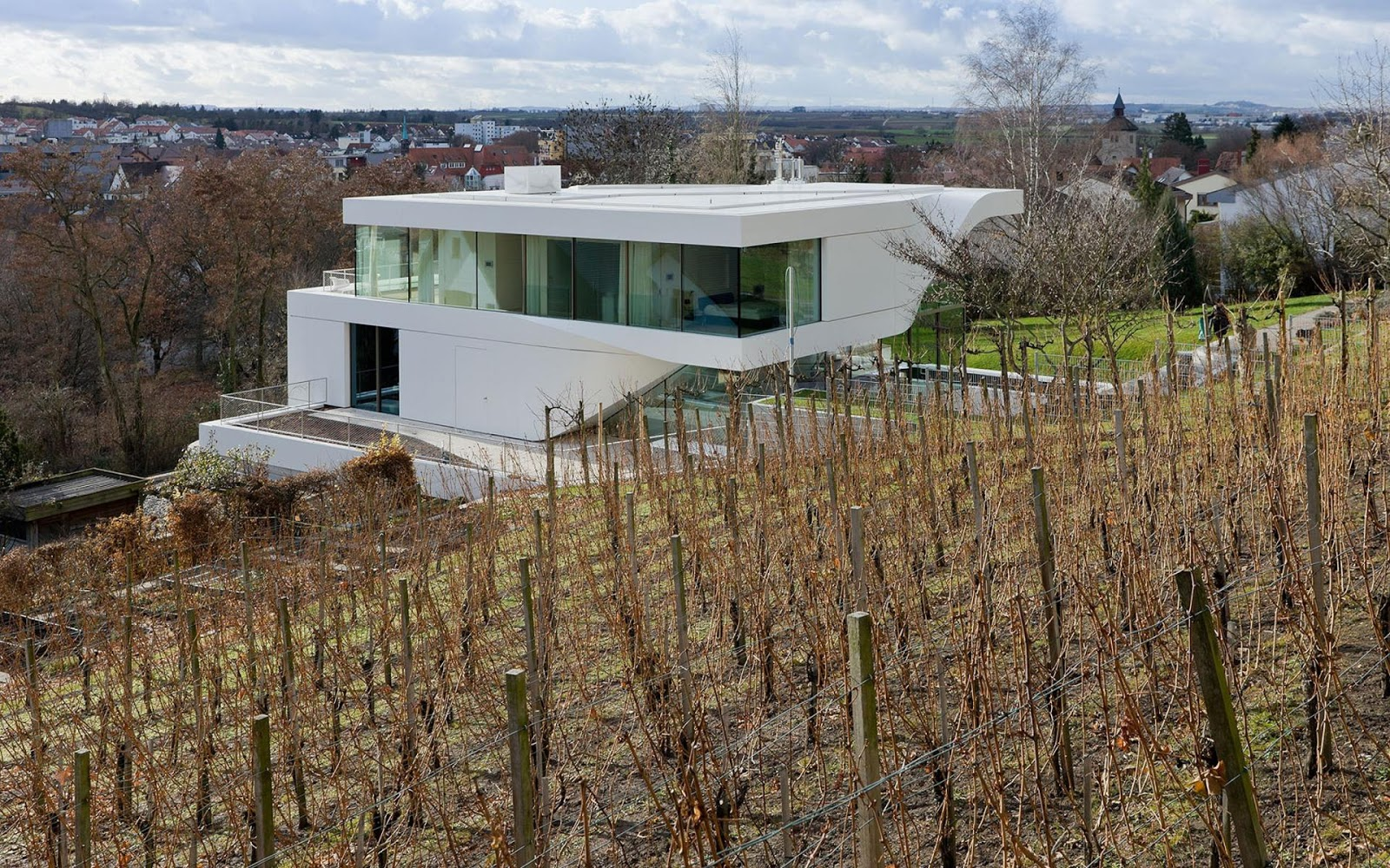 Unstudio haus am weinberg modern design by for Haus modern