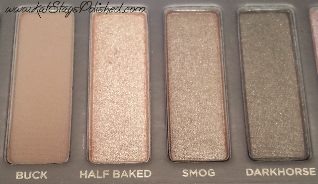 Urban Decay Naked Palette - Buck | Half Baked | Smog | Darkhorse
