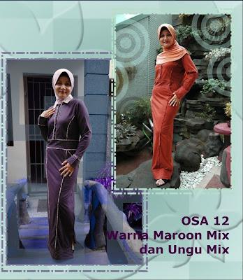 Model Baju Kaos Muslim Osmoes Teracota Ungu Tua
