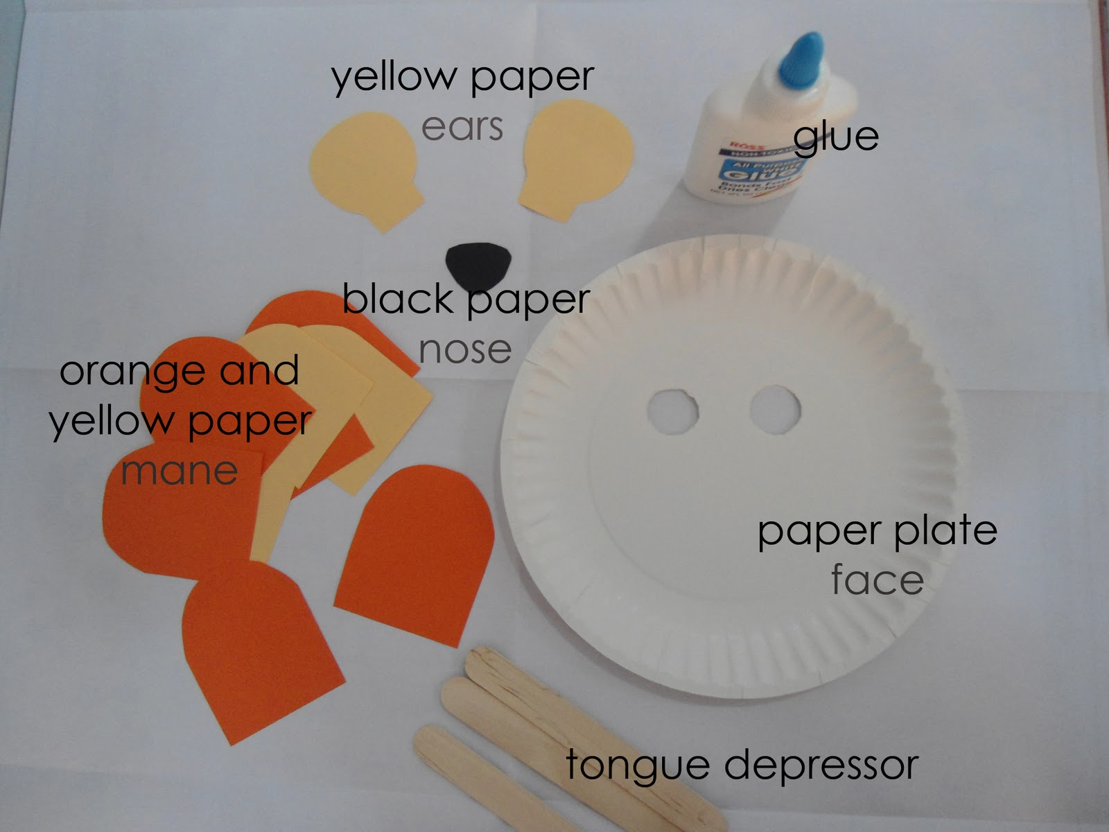 teacher weena: Paper Plate Lion Mask
