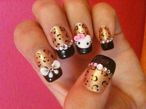 The Astonishing Rhinestone nail designs for short nails Images