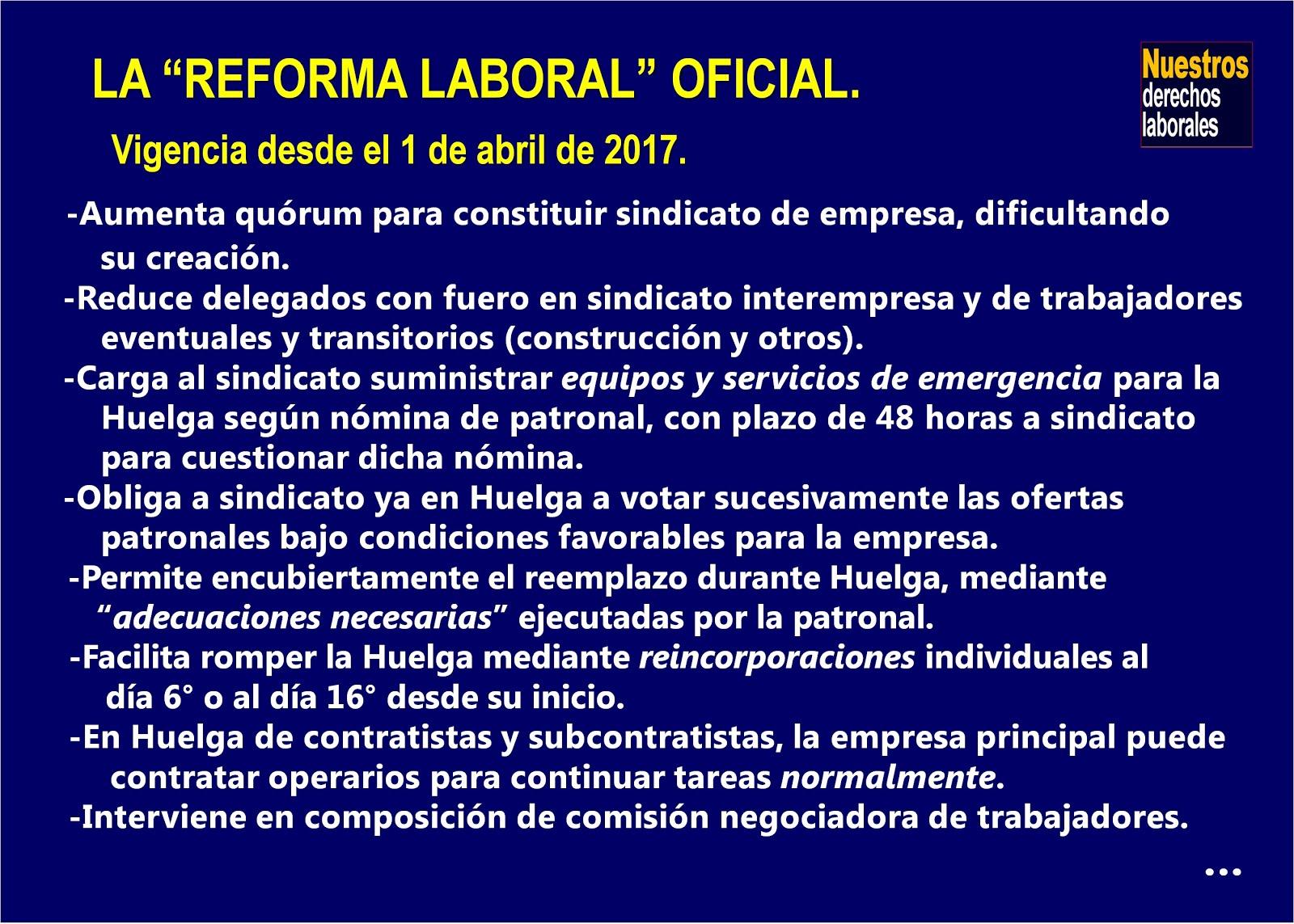 ¿Cómo quedó la reforma laboral?