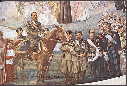 Fresco de Mussolini en una iglesia de Montreal Notredame1