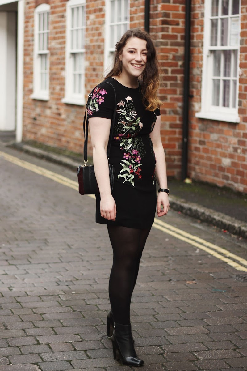 @oasisfashion floral embroidered dress
